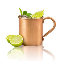 450ml 16.0oz 100% Copper Mug Moscow Mule Durable Coppery Beer Mugs Coffee Mug Milk Cup Pure Copper Cup Drinkware