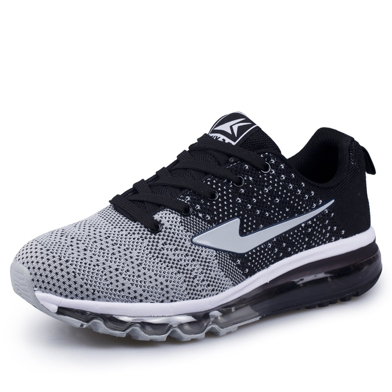 Brand Running Shoes Summer Flying Woven Breathable Full Air Cushion Jogging Slow Motion Men Sports Shoes Male Air Travel Shoes<br>