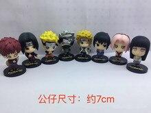 NEW 8pcs/lot 7cm anime figure Q version Naruto action figure set action figure collectible model toys brinquedos