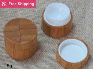 Free shipping high quality 5g 10pcs/lot bamboo cream jar inner PP body care cream jar,eye cream box,bamboo small packing bottle<br><br>Aliexpress