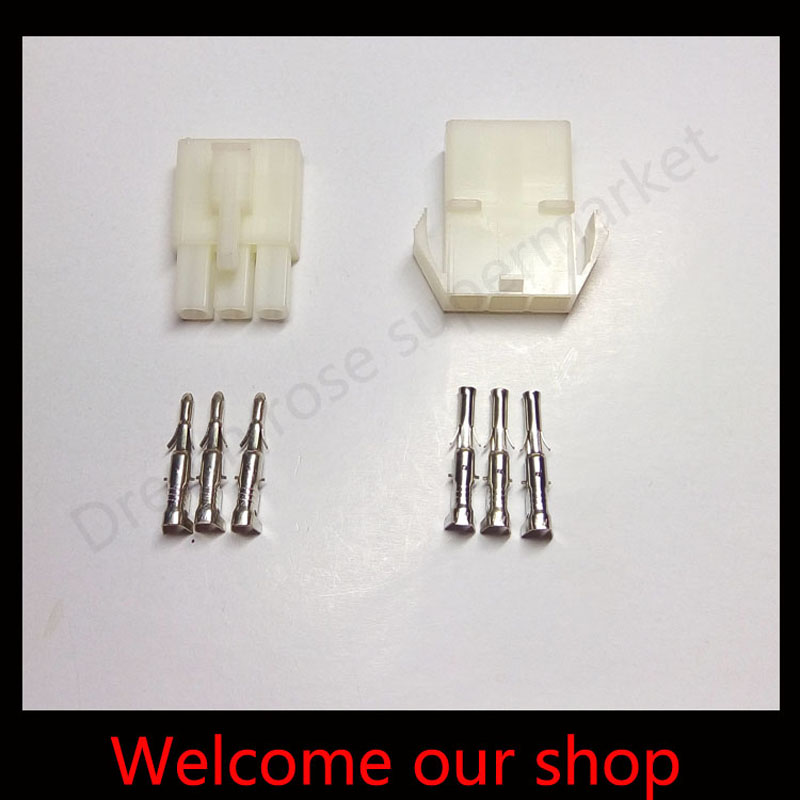 10sets L6.2-3P 3port Terminal 6.2mm pitch Electrical wire conector male and female terminal crimp socket plug for Car(China)