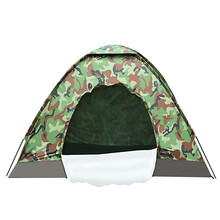 Outdoor Tent 4 Person 63*15cm Polyester Water Resistant Large Camping Tent Camouflage Tourist Tents For Fishing Hiking Camping