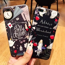 SZYHOME Phone Cases for IPhone 6 6s 7 Plus Case Alice Princess Discounted for IPhone 7 Plus Embossment Mobile Phone Cover Capa 2