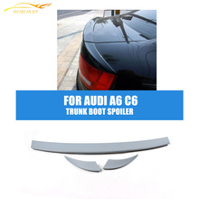 PU Unpainted  A Style 3pcs/SET Trunk Boot Spoiler Wing For Audi A6 C6 sedan 2007-2011 Trunk Trim Sticker Custom Spoiler