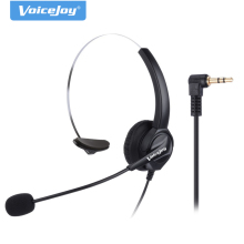 2.5mm plug headset Call Center Telephone Headset Noise Cancelling Headphone with Microphone for Linksys SPA 921 SPA 922 Polycom(China)