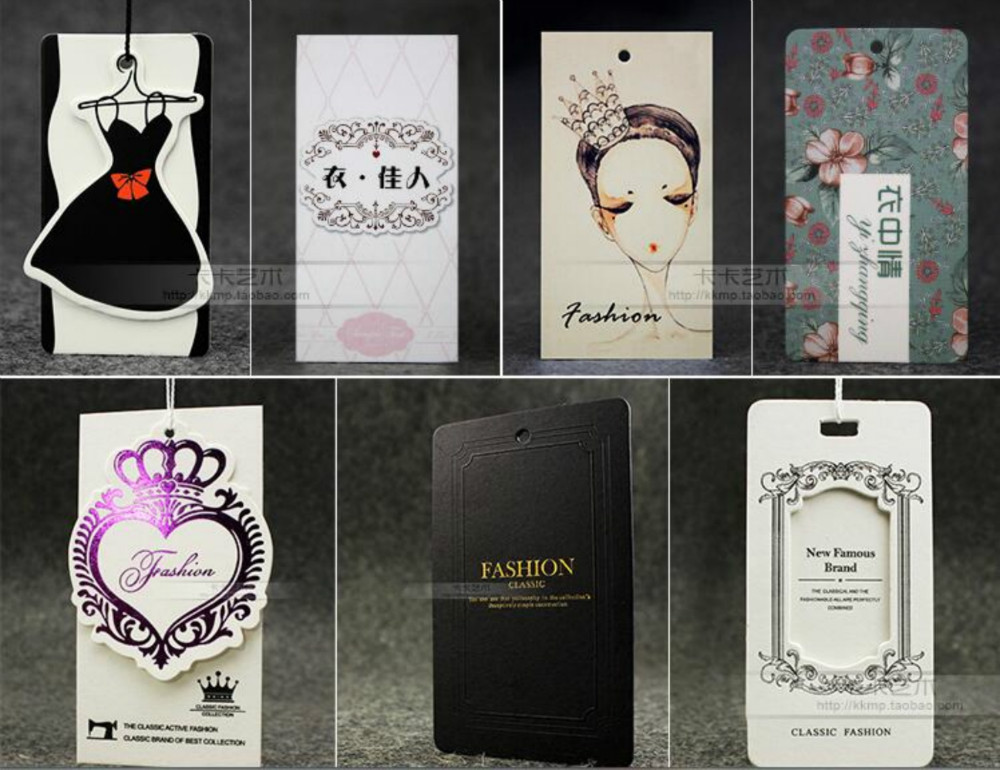 Custom Printting businesscard hang tags/Clothing printed paper swing tag/Labels for clothes personized logo Custom design <br><br>Aliexpress