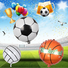 Tronzo 10pcs 18inch Football Balloons Basketball/Volleyball Foil Helium Ballon For Birthday party decoration kid's toy Globos