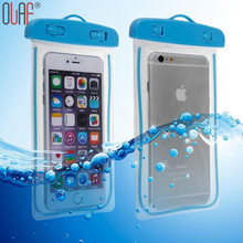 Olaf Universal Beach Travel Waterproof Phone Bag Case For iPhone 7 6 6S Plus 5 SE 5C 5S Case Pouch Transparent Underwear Bag