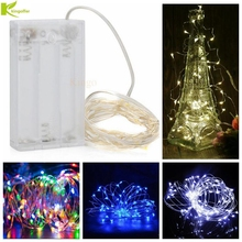 Kingoffer 2M 3M 4M 5M 10M Battery Operated Copper String Fairy Lights for Christmas Trees Outdoor Party Xmas Wedding Decorative