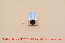 SC16LUU SCS16LUU bearing 16mm linear motion ball bearing slide block for 16mm rod round shaft XYZ Table CNC 1pcs