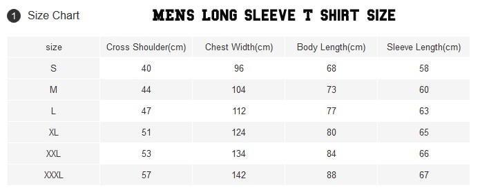 men long sleeve