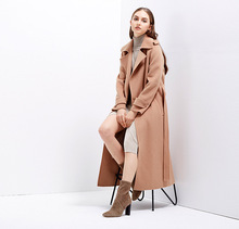 popular fashion winter Long woman Coat camel cashmere coats female Turn-down Collar wool women coat top grade wool coat