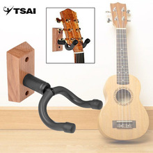 TSAI Guitar Hanger Wall-Mount Display Stand Universal Adjustable Violin Holder Musical Instrument Sponge(China)