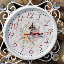 Wrought Iron Wall Clock Vintage Watch Saat Relogio de Parede Digital Watch Wall Clocks Reloj de Pared Horloge Murale Duvar Saati(China)