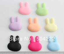 200pcs matte Cookie Biscuit bunny Resin Jewelry Cabochons 22mm kawaii mixed Flat Back Cameo Covers Deco decoden charm(China)