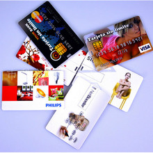 Wholesales 30pcs/Lot Promotional Gifts 4gb 8gb 16gb Ultra Thin Credit Card Shaped Customized Logo Business Card Usb Flash Drive(China)