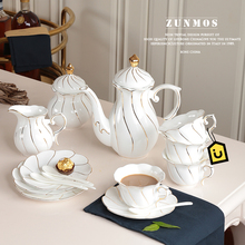 21 pcs set  bone china tea set coffee cup set afternoon tea set gift tea pot + sugar pot + milk pot + cup & saucer + spoon