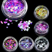 New 1mm-3mm Mini Round Thin Nail Art Glitter Decoration Colorful DIY Glitter Paillette Design Nail Art Sequin Tips P15-21