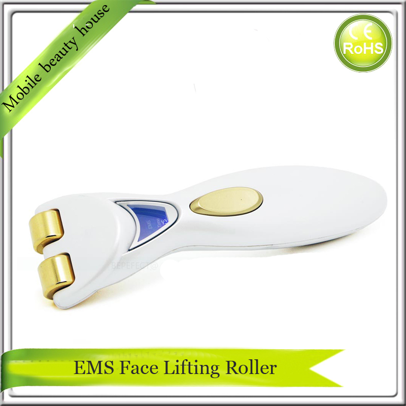 Mini Handheld Anti Aging Wrinkle Removal Skin Tightening Double Chin Slimming EMS Microcurrent Face Massager<br>