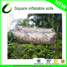 2017 Innovative Product Outdoor New Camping Fast Inflatable Camouflage lightweight Nylon inflatable Laybag banana sleeping bag