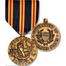 factory price CIVILIAN SERVICE IN VIETNAM FULL SIZE USA MILITARY MEDAL MADE IN CHINA cheap custom antique gold medals ribbons