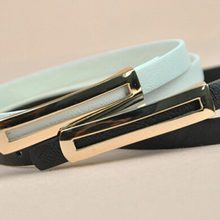 Korean Slim minimalist decoration thin belt fashion leisure wild leather belt hollow metal waist chain # 1840469