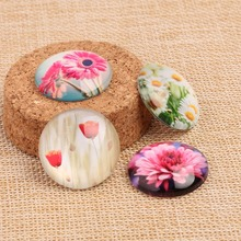 Buy Onwear mix nature flower photo round glass cabochon 12mm 20mm 25mm diy domed jewelry cameo cabochons pendant necklace for $3.96 in AliExpress store