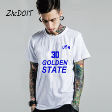 USA Golden State tee shirt homme luxury mens brand t shirt stephen curry jersey yellow round neck tops tees,tx2388(China)