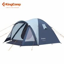 KingCamp Outdoor Large 3 - 4 Person Tent Tourist Tent Camping Family Tent for Outdoor Recreation Automatic Ultralight(China)