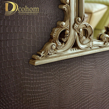 Alligator Pattern PVC & vinyl wallpaper three-dimensional photo wall paper roll wall modern wallpaper for background art R324(China)