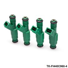 "TANSKY - 4PCS/LOT High flow 0 280 155 968 fuel injector 440cc ""Green Giant "" For Volov fuel injector 0280155968 TK-FI440C968-4"