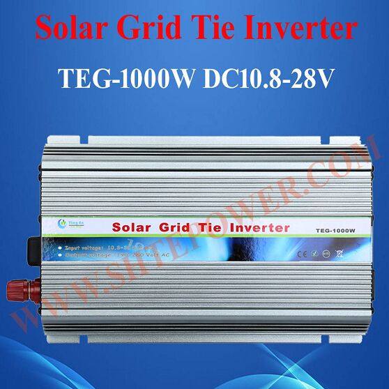 mppt pure sine wave dc 10.8-30v to ac 90-130v 190-260v micro solar inverter grid tie 1000w(China)