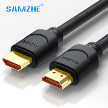 SAMZHE soft HDMI cable hdmi to hdmi 2.0 cord Gold-plated 4K*2K Ultra High Resolution for TV Blu-Ray Game box Roku Displayer(China)