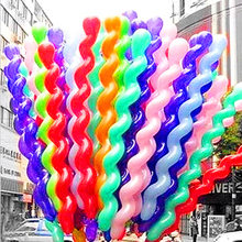 10Pcs/lot Screw Twisted Latex Balloon Spiral Thickening Long Balloon Bar KTV Party Supplies Strip Shape Balloon Inflatable Toys