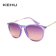 KEHU Fashion New Cat Eye Sunglasses Women Vintage Black Round Gafas Cool Sunglasses Men oculos de sol 9 Colors