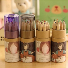 Buy 12 pcs/lot DIY Cute Kawaii Wooden Colored Pencil 2B Wood Colorful Pencil Drawing Painting Supplies Free 556 for $2.11 in AliExpress store
