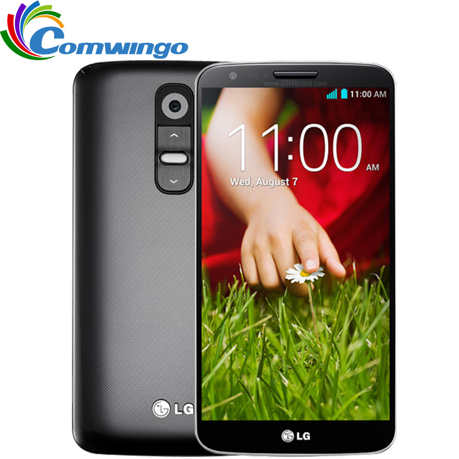 Original Unlocked LG G2 D802 moblie Phone Quad Core 5.2'' 2G RAM 16GB ROM Qualcore13MP Camera WCDMA LTE NFC WIFI GPS(China (Mainland))
