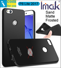 imak Frosted Sand Case Cover For Huawei P8 Lite 2017 TPU Silicone Matte Skin Protector Anti-fingerprint + Soft Tempered Glass