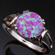 Enjoyable Big Round Pink Fire Opal & Jewelry 925 Sterling Silver Stamped Fashion Trendy Women's Party Jewelrys Us# Size SF1030