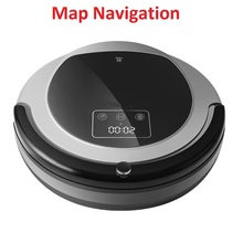 Newest 2D Map & Gyroscope Navigation,Memory,Low Repetition,Virtual Blocker,UV,Dry and Wet Mopping Robot Vacuum Cleaner For Home