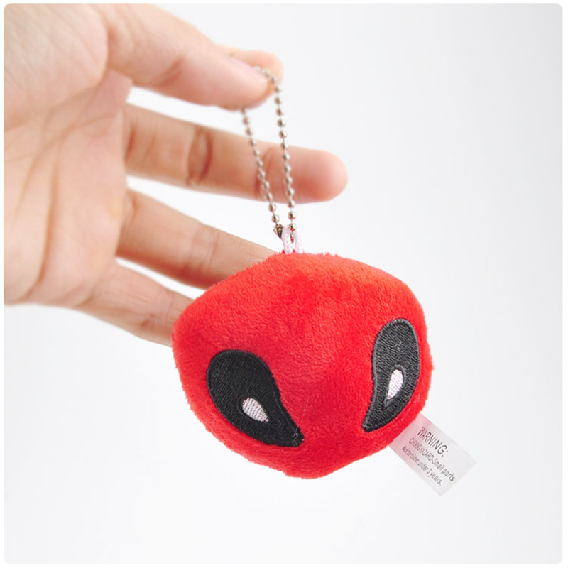X-Men Deadpool Plush Toys Movie & TV Super Heroes Deadpool Key Bag Pendants Dolls Cosplay Promotional Gift 10pcslot 7cm (3)