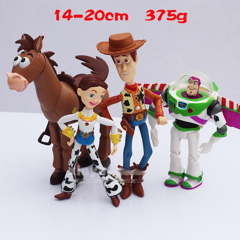 Toy Story 3 Buzz Lightyear Woody Jessie PVC Action Figures Toys Dolls Child Toys 4pcs/set<br><br>Aliexpress