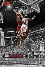 Derrick Rose Chicago Bulls NBA MVP Basketball Star Silk Poster Art Bedroom Decoration 1131