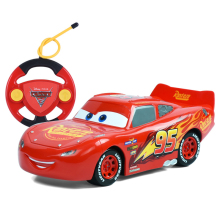 Disney Pixar Cars 3 22cm RC Cars Lighting McQueen Jackson Storm Cruz Ramirez Remote Control Plastic Model Car Gift Toy For Kid(China)
