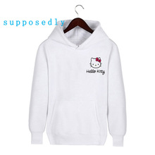 New Autumn Winter Fashion Hello Kitty Printed Women Hoodies Cartoon Harajuku Women and Men Sweatshirts