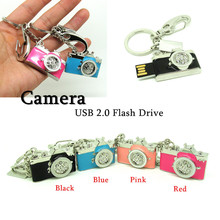 Fashion Diamond Camera usb flash drive Pen drive memory stick 4g 8g 16g 32g best Computer Gift pendrive mini Real capacity
