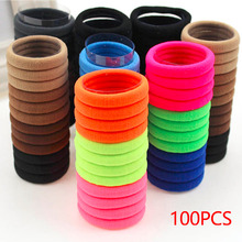 Buy 100pcs/lot Hair Holders Elastic Rubber Bands Ponytail Holders Hair Rope Seamless Gum Hair Hair Accessories Girls for $2.59 in AliExpress store