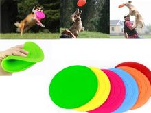 Silicone Outdoor Training Frisbee Puppy Flying Discs Dog Fetch Toy Color Random