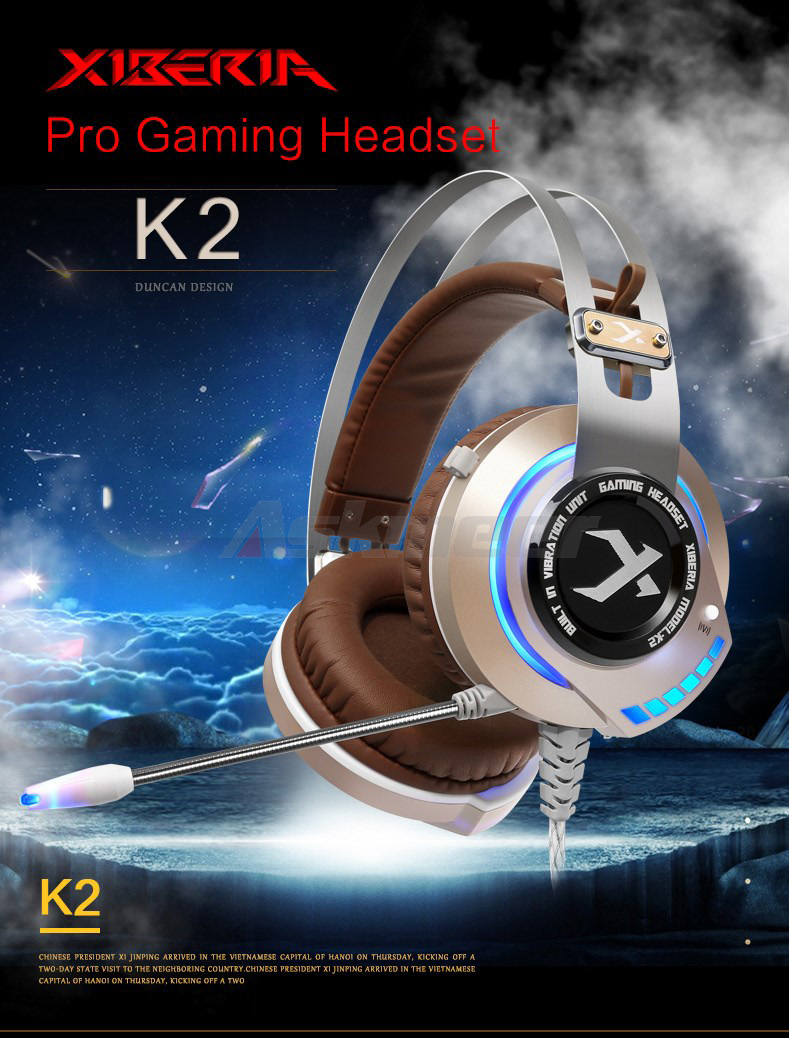 XIBERIA K2 Computer Gaming Headphones Stereo Surround Sound Glowing LED Light Game Headset Gamer with Microphone fone de ouvido (1)