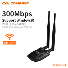 COMFAST Wireless Wi fi Adapter USB WiFi antenna 300mbps 2.4GHz computer lan card high power antenna wifi dongle CF-WU7200ND(China)